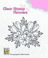 Nellie Snellen Clear Flower Stamp - Crocuses  FLO009