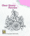 Nellie Snellen Clear Flower Stamp - Gerberas  FLO010
