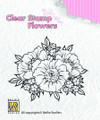 Nellie Snellen Clear Flower Stamp - Anemones  FLO011