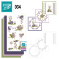 Stitch and Do 34 - Card Embroidery Kit - Field Flowers