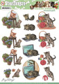 3D Die-Cut Sheet  Amy Design  - Cats SB10026