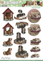 3D Die-Cut Sheet  Amy Design  - Dogs SB10025