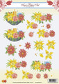 3D Sheet Ann's Paper Art - Flowers/Candles  CD10116