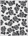 "Sue Wilson Pinpoint Embossing Folder 5 3/4"" x 7 1/2"" - ROSE BLOOMS EFPP-009  Pre-Order 15% Discount"