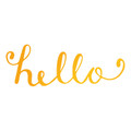 Sweet Sentiments Hotfoil Stamp - Hello