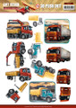 3D Die-Cut Sheet  Amy Design  - Vintage Vehicles Trucks  SB10153