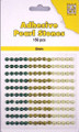 Nellie Snellen Self-Adhesive Pearls - 150 x 4mm - 3 Shades of Brown