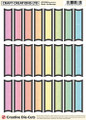Craft Creations Creative Die-Cut Banners - Blank  Black/Rainbow