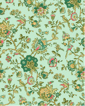 Village Garden - Bird Floral Teal