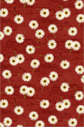 Wilmington Prints- Sunset Blooms- Daisies Red
