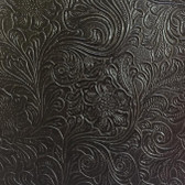Faux Leather Tooled Vinyl - Monteray Expresso