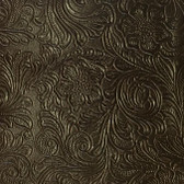 Faux Leather Tooled Vinyl - Monteray Chocolate