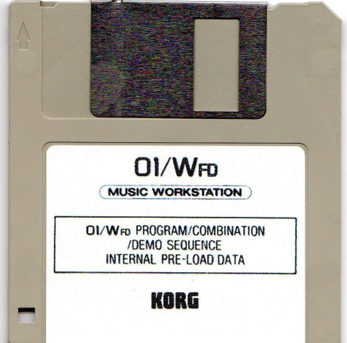 Korg 01/Wfd Preload Disk with Factory Demos