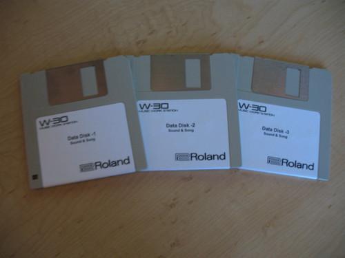 Roland W-30 Original Issue Sound/Demo Disk Set (3 Disks)