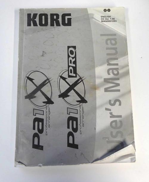 Korg PA1 X Pro User's Manual