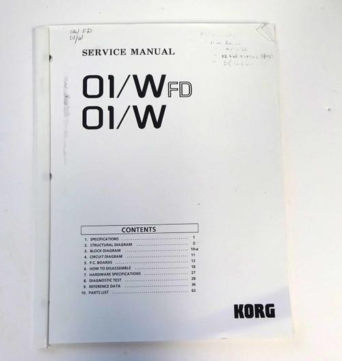 Korg 01/Wfd Service Manual