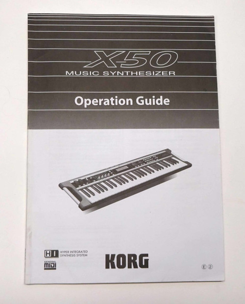 Korg X-50 Music Workstation Operation Guide
