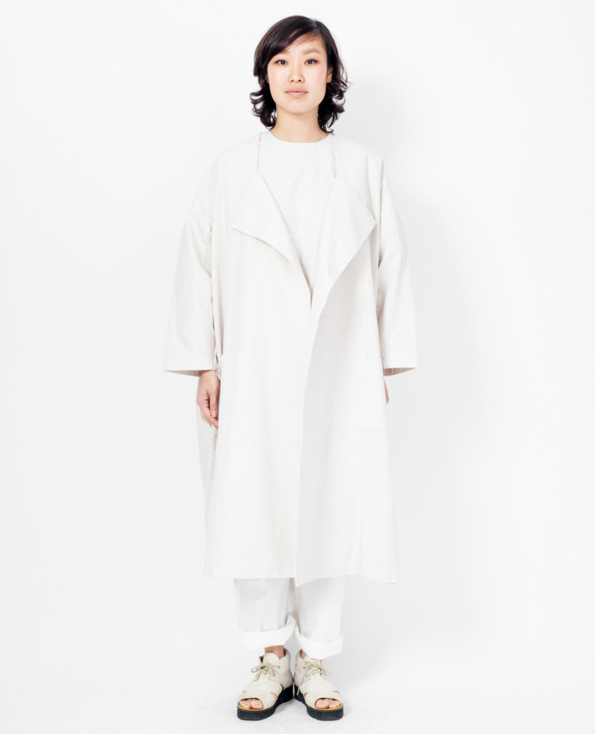 Cosmic Wonder Canvas Kimono - Natural