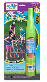 Stand Up & Draw - Lucky Lime Walkie Chalk Sidewalk chalk holder,  comes in a nice retail package, perfect for home or as a gift!