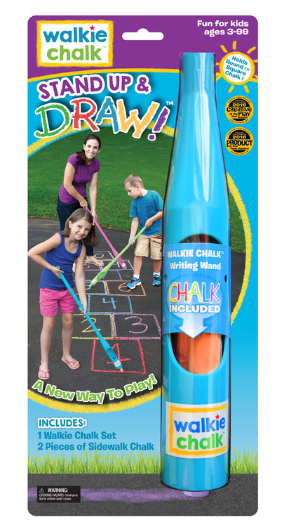 Walkie Chalk - Tropical Teal Sidewalk Chalk Holder - Perfect for chalking it up at home or at the park - or at the beach! Just grab some sidewalk chalk and start to create.