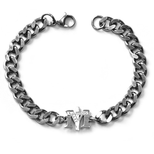 Stainless Steel True Devotion to Mary Bracelet