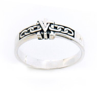 Sterling Silver True Devotion to Mary Ring for Women