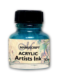 Manuscript 30ml Turquoise Artists Acrylic Ink Bottle