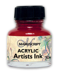 Manuscript 30ml Crimson Artists Acrylic Ink Bottle