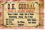 Ok Corral Tombstone Arizona Site Of Shootout  11 X 17 Inches