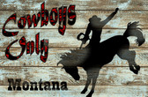 Cowboy Only Old Wooden Sign 11 x 17 x 1