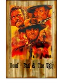 Good Bad And The Ugly Clint Eastwood Old Wooden Sign 11 x 17 x 1