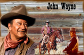 John Wayne Collage Old Wooden Sign 11 x 17 x 1