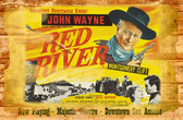 John Wayne Red River Old Wooden Sign 11 x 17 x 1