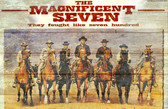 Magnificent 7 Old Wooden Sign 11 x 17 x 1