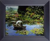 Monet-In-Giverny Painting Lilly Pads Canvas Print