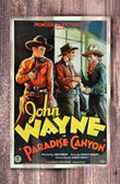 John Wayne In Paradise Canyon Movie Poster Old Wood Sign 11 x 17 X 1