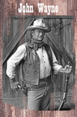 John Wayne In The Cowboys Old Wood Sign 11 x 17 X 1