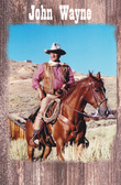 John Wayne On is Horse Old Wood Sign 11 x 17 X 1