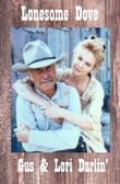OLD WOODEN Lonesome Dove Gus and Lori Old Wood Sign 11 x 17 X 1