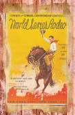 World SEries Rodeo 1940 NYC Old Wood Sign 11 x 17 X 1