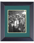 Francis_Ouimet Caddy Eddie_Lowery_1913 US Open Framed Golf Wall Décor Art 14 x 17