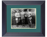 Harry VArdon Ted Ray &  Francis Ouimet US OPen Champ Brookline  1913 Framed Golf Wall Décor Art 14 x 17