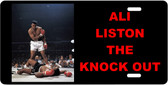 Ali Liston The Knock Out Motivational License Plate