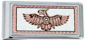 Copper and Daimond Cut Northwest Native Thunderbird Money Clips