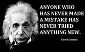 Famous Quote Poster  Albert EinsteinQuote Poster  Anyone Who Has Never Made A Mistake Has Never Tried Anything