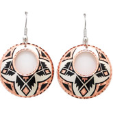 All Copper Apache Design Native Copper Earrings