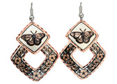 All Copper Butterfly Copper Earrings Copper Earrings