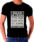 Buddy Holly Killed In The Crash Poster T-Shirt