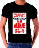 Hank Williams Senior Drifting Cowboys Poster T-Shirt