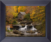 Down By The Old Mill Stream Running Water With Cabin Framed Art Photograph Print